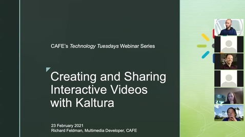 Thumbnail for entry Technology Tuesday: Kaltura, Feb-23, 2021
