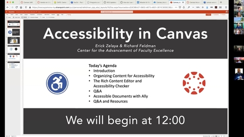 Thumbnail for entry CAFE Canvas Workshops: Accessibility in Canvas (5/28/21)