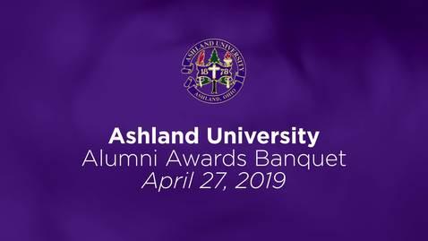Thumbnail for entry 2019/04/27 Ashland University Alumni Awards Banquet