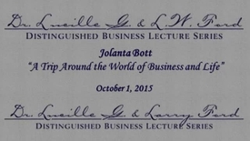 Thumbnail for entry The Thirteenth Annual Dr. Lucille G. and L.W. Ford Distinguished Business Lecture Series