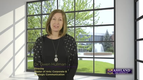 Thumbnail for entry Master of Arts: Corporate & Strategic Communication