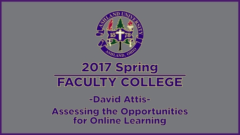 Thumbnail for entry 2017 Spring Faculty College: Assessing Opportunity