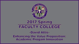 Thumbnail for entry 2017 Spring Faculty College: Keynote Speak, Dr. Attis