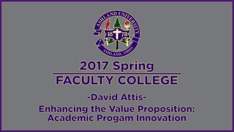 Thumbnail for entry 2017 Spring Faculty College: Keynote Speak, Dr. Attis
