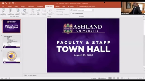 Thumbnail for entry 8-18-2020 Faculty and Staff Town Hall