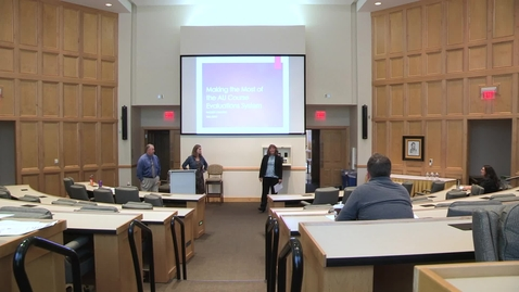 Thumbnail for entry 2018 Fall Faculty College: Larry Bunce & Diane Bonfiglio: Making the Most of the AU Course Evaluation System