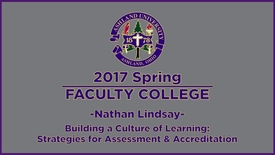 Thumbnail for entry 2017 Spring Faculty College: Keynote speaker Dr. Lindsay