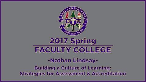 Thumbnail for entry 2017 Spring Faculty College: Keynote speaker Dr. Lindsay