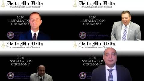 Thumbnail for entry Delta Mu Delta International Honor Society in Business 2020 Installation Ceremony