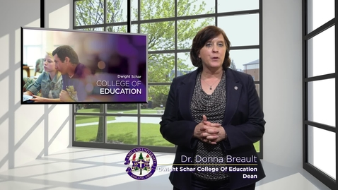 Thumbnail for entry Dr. Donna Breault; Dean, Dwight Schar College of Education