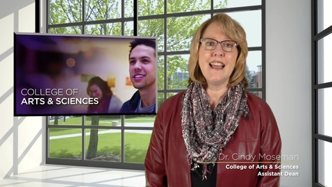 Thumbnail for entry Dr. Cindy Moseman; Assistant Dean of the College of Arts & Sciences