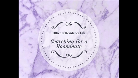 Thumbnail for entry Searching for a Roommate