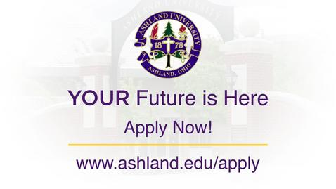 Thumbnail for entry 2018 Ashland University Undergraduate Commercial: Apply Today