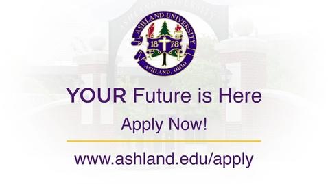Thumbnail for entry 2018 Ashland University Undergraduate Commercial: Apply Today