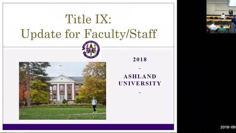 Thumbnail for entry Title IX Training