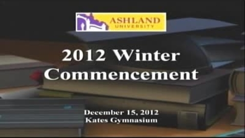Thumbnail for entry Winter 2012 Commencement: Dr. Donald Rinehart