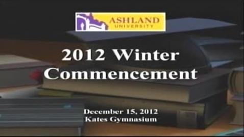 Thumbnail for entry Winter 2012 Commencement: Dr. Donald Rinehart