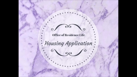 Thumbnail for entry How to Complete a Housing Application