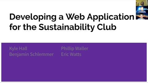 Thumbnail for entry CSS 499_ Sustainability Club URCA Video (Source)