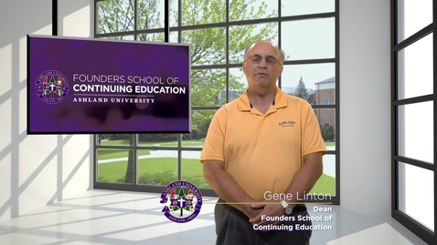 Thumbnail for entry Dr. Gene Linton; Dean, Founders School of Continuing Education