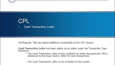 Thumbnail for entry Cash Transaction - Addressee