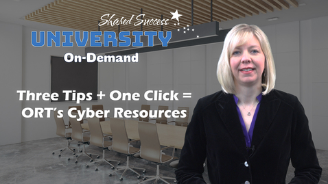 Thumbnail for entry ORT's Cyber Resources 05.15.18