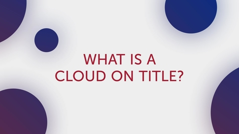 Thumbnail for entry Title Tip - Cloud on Title