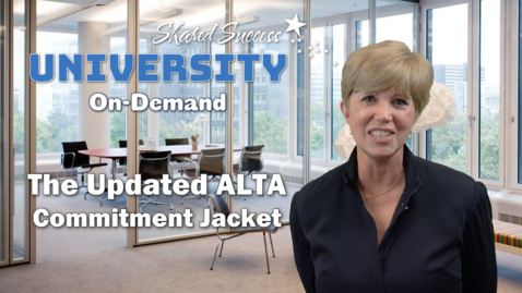 Thumbnail for entry ALTA Commitment Jacket 10.05.17