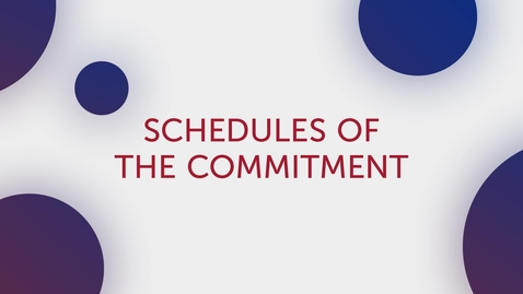 Thumbnail for entry Title Tip - Schedules of Commitment (TX Only)