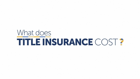 Thumbnail for entry What Does Title Insurance Cost?