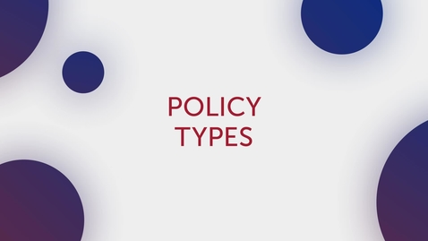 Thumbnail for entry Title Tips - Policy Types