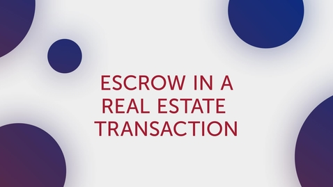 Thumbnail for entry Title Tip - Escrow in a Real Estate Transaction