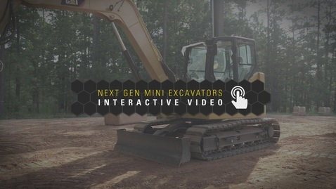 Thumbnail for entry Next Gen Mini Excavators Interactive Video