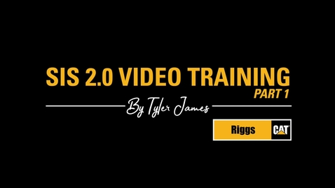 Thumbnail for entry SIS 2.0 Video Training - Part 1