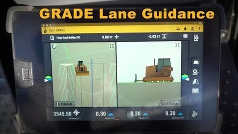 Thumbnail for entry Cat® Next Gen Dozer GRADE Monitor: Lane Guidance