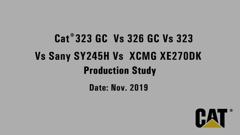Thumbnail for entry CAT 323 GC_326GC_323  vs Sany SY245H vs XCMG XE270DK Production Study Video_en
