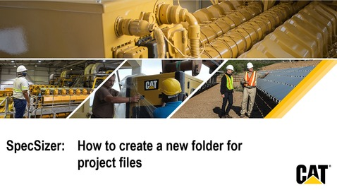Thumbnail for entry SpecSizer - Creating new folders for project files