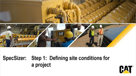 Thumbnail for entry SpecSizer - Step 1: Define site conditions