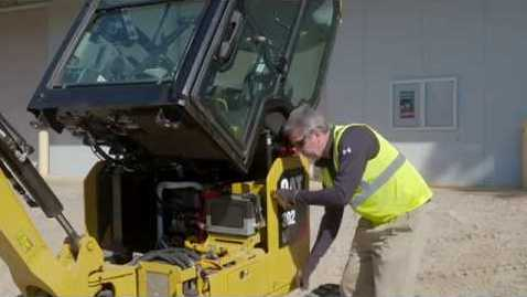 Thumbnail for entry Tilt Up Cab on the Cat® Next Generation 1-2 Ton Mini Excavators