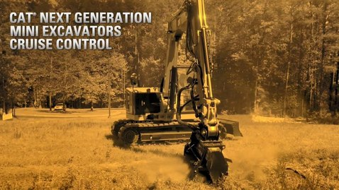 Thumbnail for entry Cat® 309 High Flow Mini Excavator Mowing and Mulching with Stick Steer