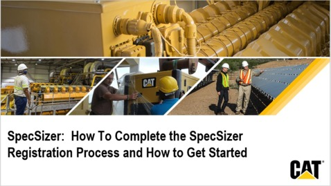 Thumbnail for entry Spec Sizer - How To Complete the SpecSizer Registration Process and How to Get Started