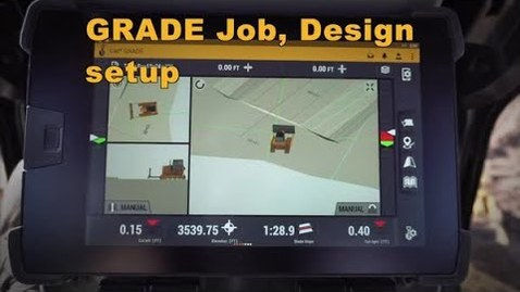 Thumbnail for entry Cat® Next Gen Dozer GRADE Monitor: Job, Design Setup