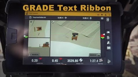 Thumbnail for entry Cat® Next Gen Dozer GRADE Monitor: Text Ribbon