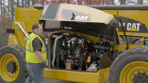 Thumbnail for entry Cat TL1255D Telehandler - Fuel Water Seperator