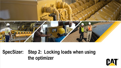 Thumbnail for entry SpecSizer - Step 2:  Locking loads when using the optimizer