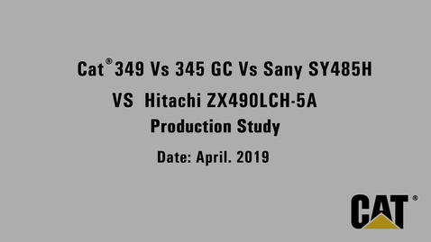 Thumbnail for entry 349 vs 345 GC vs Sany SY485H vs Hitachi ZX490LCH-5A Production Study Video_En