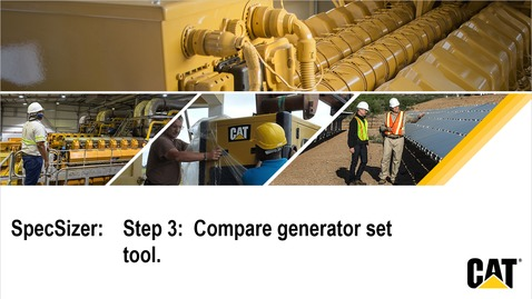 Thumbnail for entry SpecSizer:  Step 3 - Compare generator sets
