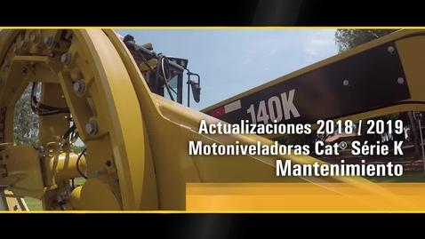 Thumbnail for entry Actualización 2018/2019 - Motoniveladoras Cat® Serie K  - Mantenimiento del DCM