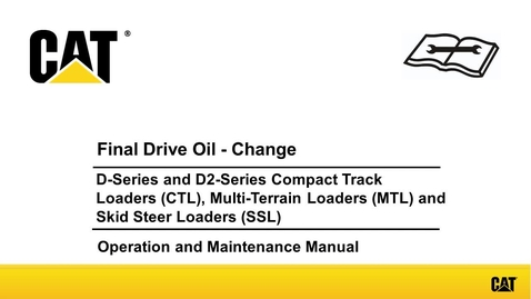 Cat 257b oil change