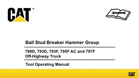Thumbnail for entry Large Mining Truck Ball Stud Breaker Hammer Group (Animation)